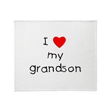 I love my grandson Throw Blanket