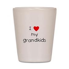 I love my grandkids Shot Glass