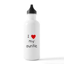 I love my auntie Water Bottle