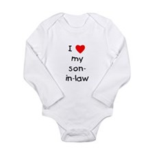 I love my son-in-law Long Sleeve Infant Bodysuit