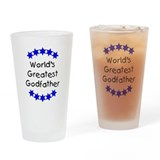 World's Greatest Godfather Drinking Glass