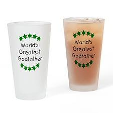 World's Greatest Godfather Drinking Glass