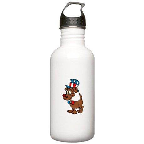 Patriotic Dog Stainless Water Bottle 1.0L