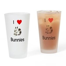 I love Bunnies Drinking Glass