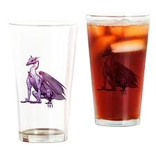 Purple Sitting Dragon Drinking Glass