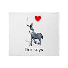 I love donkeys Throw Blanket