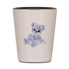 Blue & White Teddy Bear Shot Glass