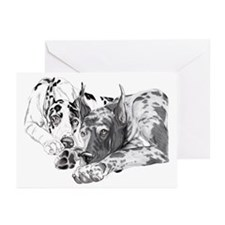 Great Dane Inseparable Greeting Cards (10)