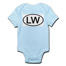 LW - Initial Oval Infant Creeper