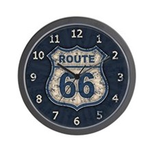 Route 66 Bluetandist Wall Clock