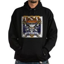 USN Skull and Anchors Hoodie