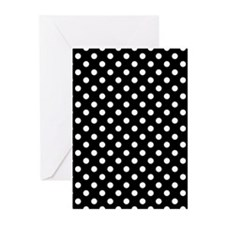 Black and White Polka Dot Greeting Cards (Pk of 10