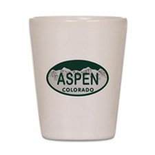 Aspen Colo License Plate Shot Glass
