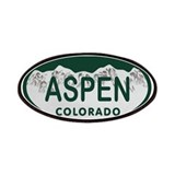 Aspen Colo License Plate Patches