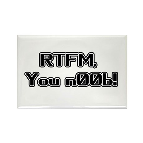 RTFM n00b Rectangle Magnet