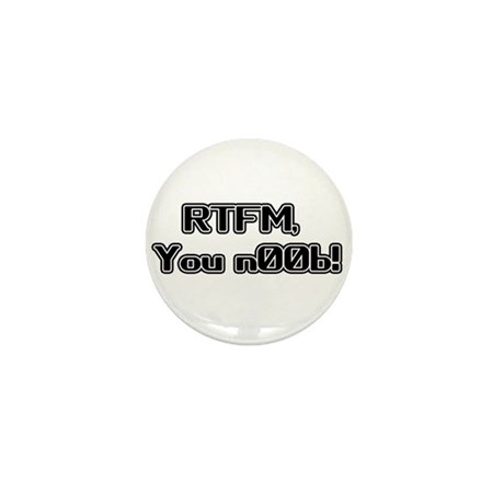 RTFM n00b Mini Button