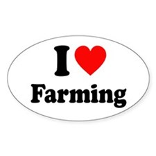 I Love Farming Decal