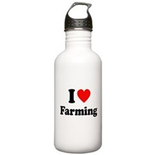 I Love Farming Water Bottle