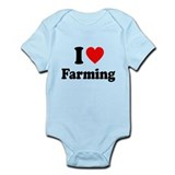 I Love Farming Onesie