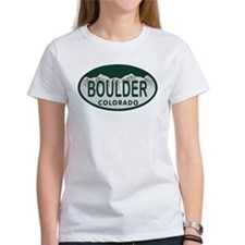 Boulder Colo License Plate Tee