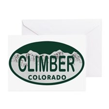 Climber Colo License Plate Greeting Cards (Pk of 1