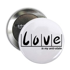 "Love Is My Anti-State 2.25"" Button"