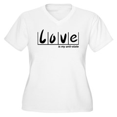 Love Is My Anti-State Women's Plus Size V-Neck T-S