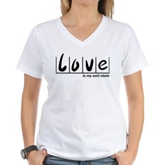 Love Is My Anti-State Women's V-Neck T-Shirt