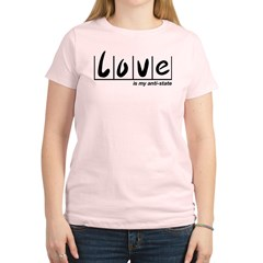 Love Is My Anti-State Women's Light T-Shirt