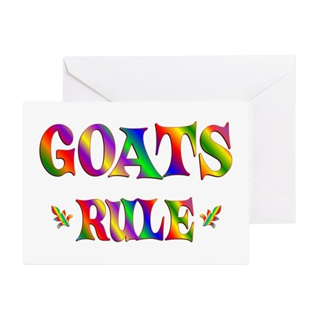 GOATS RULE Greeting Cards (Pk of 10)