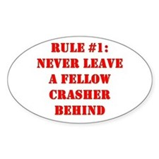 Crashing Rule #1 Oval Decal