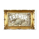 Beach Dad Car Magnet 20 x 12