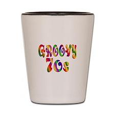 Groovy 70s Shot Glass