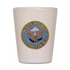 USS BARTON Shot Glass