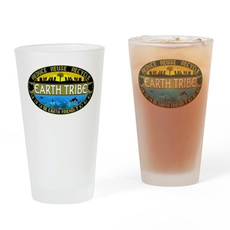 Earth Tribe Drinking Glass
