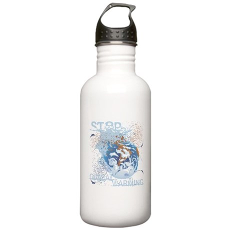 Stop Global Warming Stainless Water Bottle 1.0L