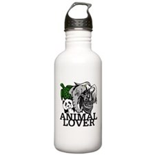 Animal Lover Collage Water Bottle