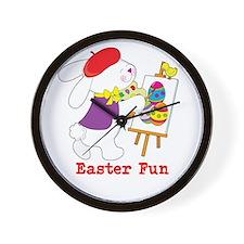 Easter Fun Wall Clock