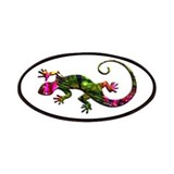 Green Purple Gecko Patches