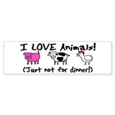 Not For Dinner Bumper Bumper Sticker