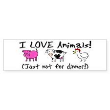 Not For Dinner Bumper Bumper Sticker