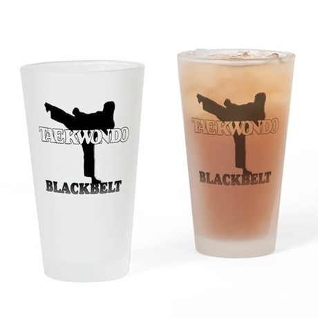 TaeKwonDo Black Belt Drinking Glass