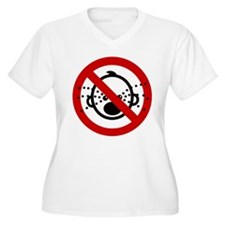 Funny NO Cry Babies Sign T-Shirt