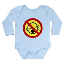 Funny NO Cry Babies Sign Long Sleeve Infant Bodysu