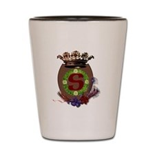 S initial crest Shot Glass