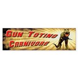Gun Toting Carnivore Bumper Sticker