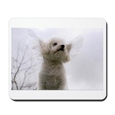 Cute Bichon frise dad Mousepad