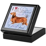 Longhaired Dachshund Keepsake Box