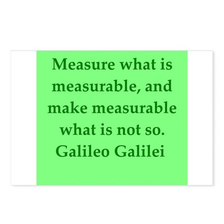 Galileo quotes Postcards (Package of 8)
