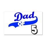 Unique Dad daddy father father's day papa pappi Car Magnet 20 x 12